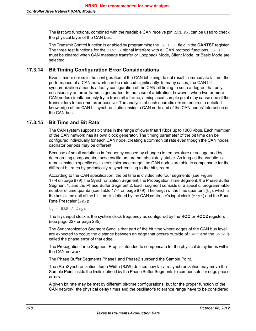 LM3S9BN6-IBZ80-C5 ,Texas Instruments厂商,Stellaris LM3S Microcontroller 108-NFBGA -40 to 85, LM3S9BN6-IBZ80-C5 datasheet预览  第878页