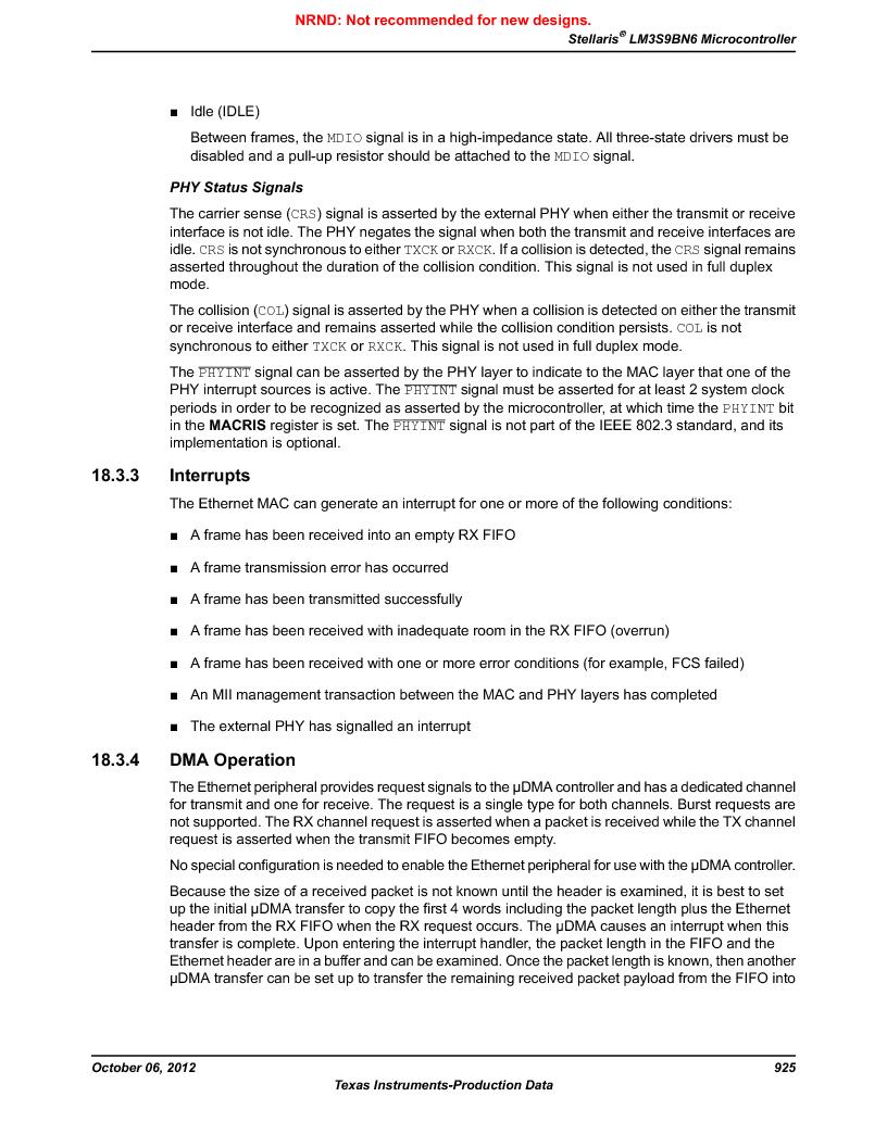 LM3S9BN6-IBZ80-C5 ,Texas Instruments厂商,Stellaris LM3S Microcontroller 108-NFBGA -40 to 85, LM3S9BN6-IBZ80-C5 datasheet预览  第925页