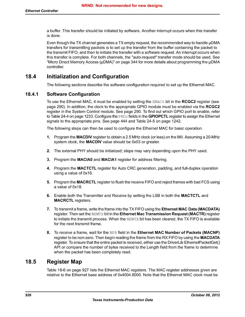 LM3S9BN6-IBZ80-C5 ,Texas Instruments厂商,Stellaris LM3S Microcontroller 108-NFBGA -40 to 85, LM3S9BN6-IBZ80-C5 datasheet预览  第926页