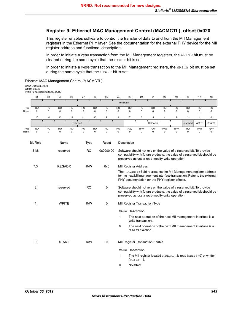 LM3S9BN6-IBZ80-C5 ,Texas Instruments厂商,Stellaris LM3S Microcontroller 108-NFBGA -40 to 85, LM3S9BN6-IBZ80-C5 datasheet预览  第943页