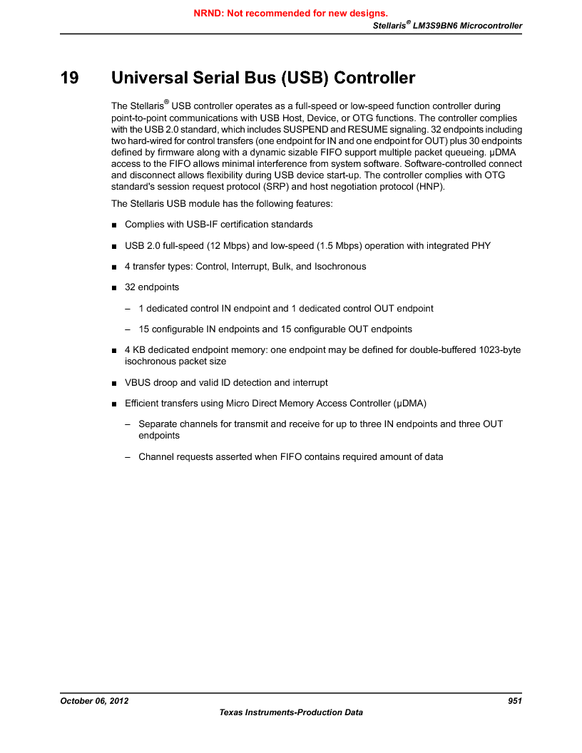 LM3S9BN6-IBZ80-C5 ,Texas Instruments厂商,Stellaris LM3S Microcontroller 108-NFBGA -40 to 85, LM3S9BN6-IBZ80-C5 datasheet预览  第951页