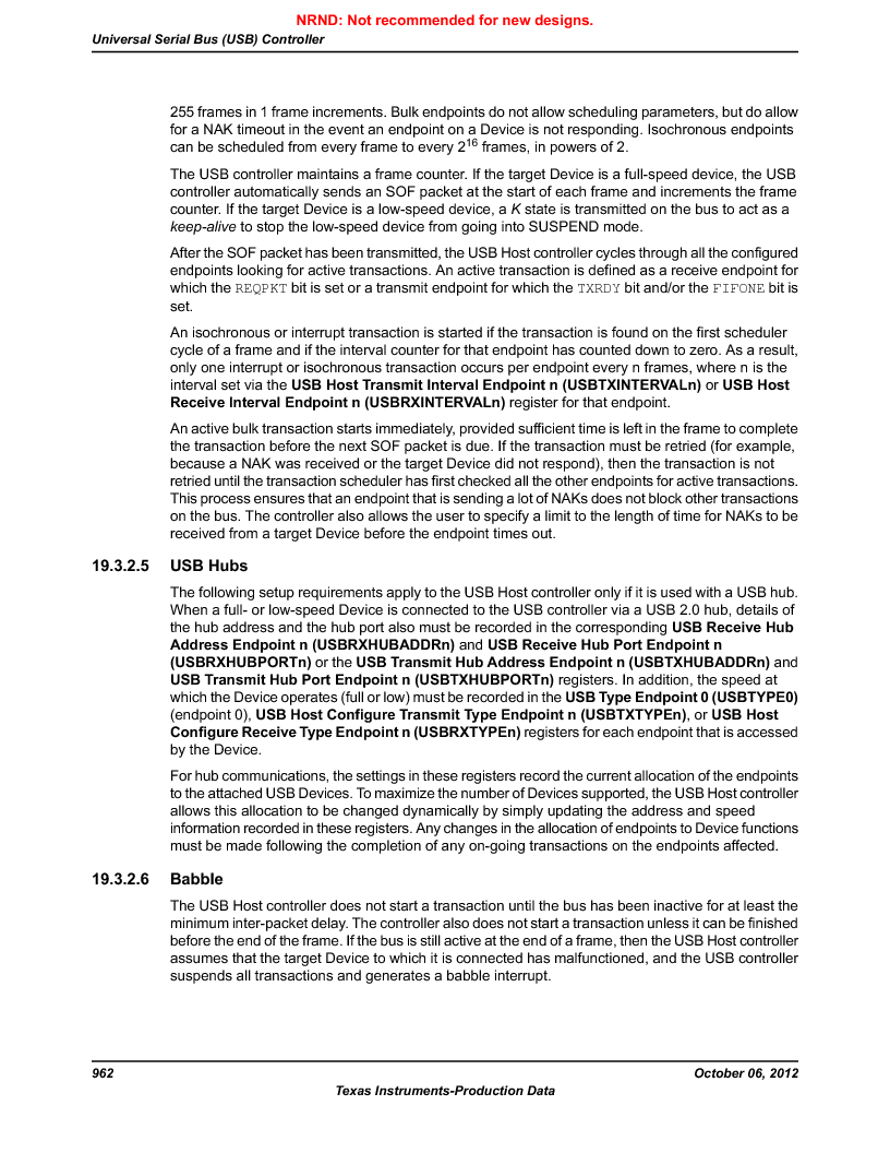 LM3S9BN6-IBZ80-C5 ,Texas Instruments厂商,Stellaris LM3S Microcontroller 108-NFBGA -40 to 85, LM3S9BN6-IBZ80-C5 datasheet预览  第962页