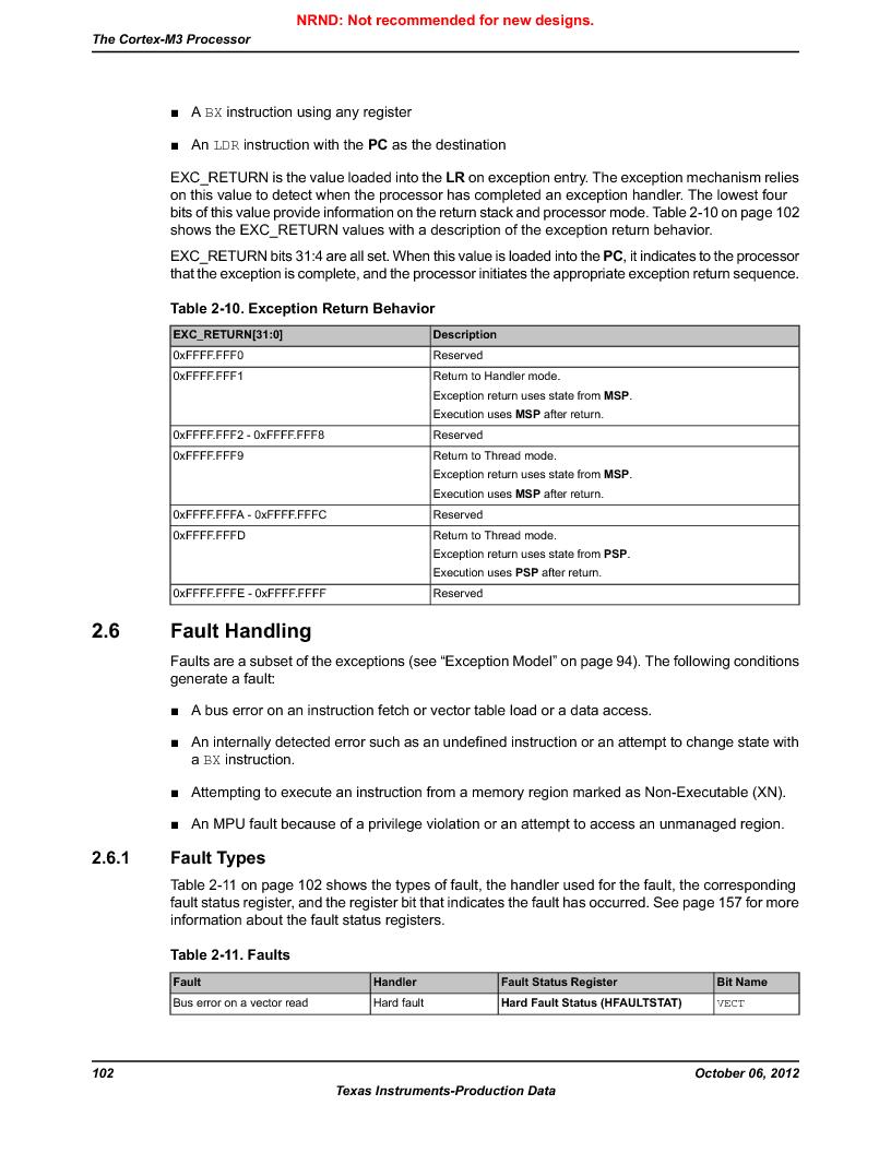 LM3S9D81 ,Texas Instruments厂商,Stellaris LM3S Microcontroller 108-NFBGA -40 to 85, LM3S9D81 datasheet预览  第102页