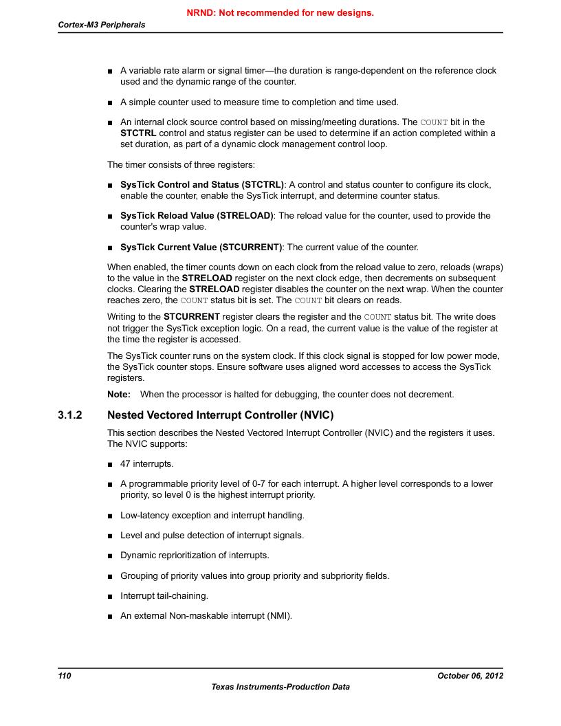LM3S9D81 ,Texas Instruments厂商,Stellaris LM3S Microcontroller 108-NFBGA -40 to 85, LM3S9D81 datasheet预览  第110页