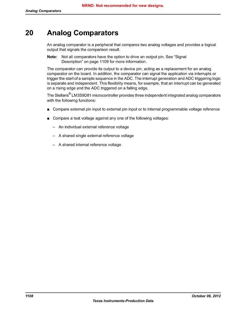 LM3S9D81 ,Texas Instruments厂商,Stellaris LM3S Microcontroller 108-NFBGA -40 to 85, LM3S9D81 datasheet预览  第1108页