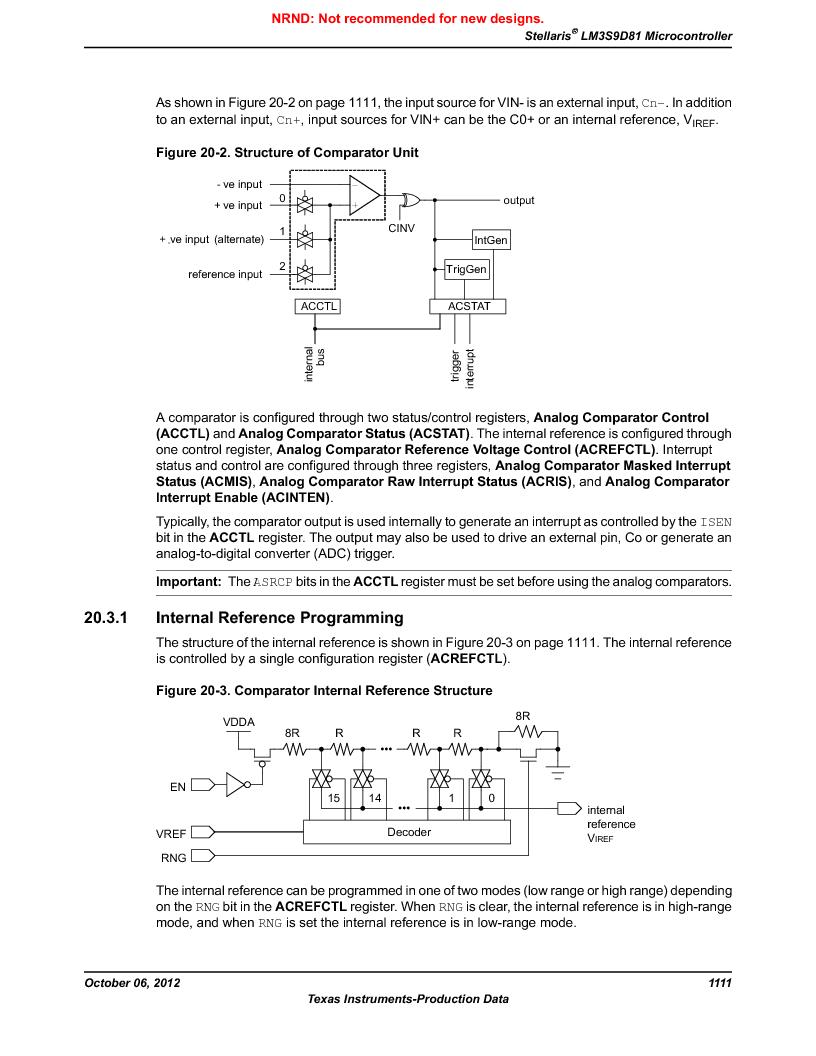 LM3S9D81 ,Texas Instruments厂商,Stellaris LM3S Microcontroller 108-NFBGA -40 to 85, LM3S9D81 datasheet预览  第1111页