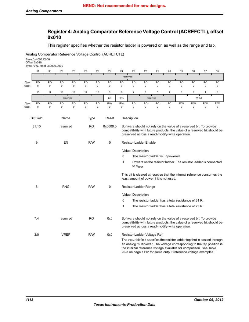 LM3S9D81 ,Texas Instruments厂商,Stellaris LM3S Microcontroller 108-NFBGA -40 to 85, LM3S9D81 datasheet预览  第1118页