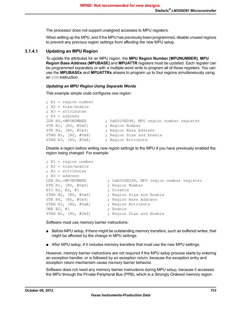 LM3S9D81 ,Texas Instruments厂商,Stellaris LM3S Microcontroller 108-NFBGA -40 to 85, LM3S9D81 datasheet预览  第113页