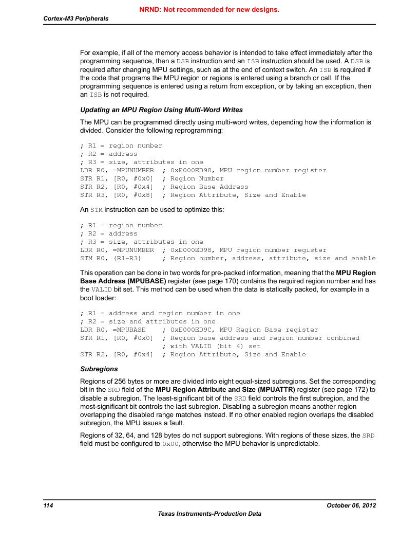 LM3S9D81 ,Texas Instruments厂商,Stellaris LM3S Microcontroller 108-NFBGA -40 to 85, LM3S9D81 datasheet预览  第114页