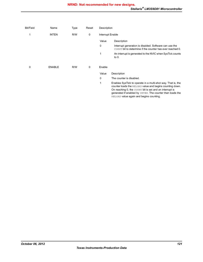 LM3S9D81 ,Texas Instruments厂商,Stellaris LM3S Microcontroller 108-NFBGA -40 to 85, LM3S9D81 datasheet预览  第121页