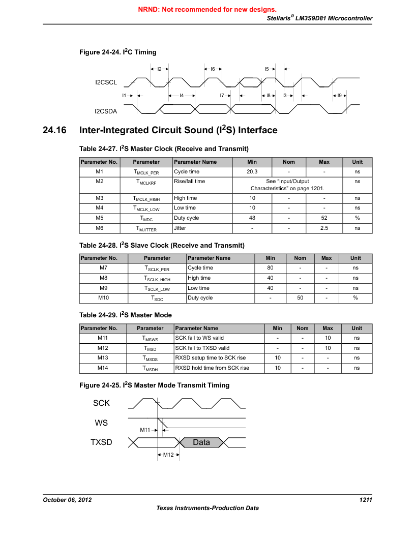 LM3S9D81 ,Texas Instruments厂商,Stellaris LM3S Microcontroller 108-NFBGA -40 to 85, LM3S9D81 datasheet预览  第1211页