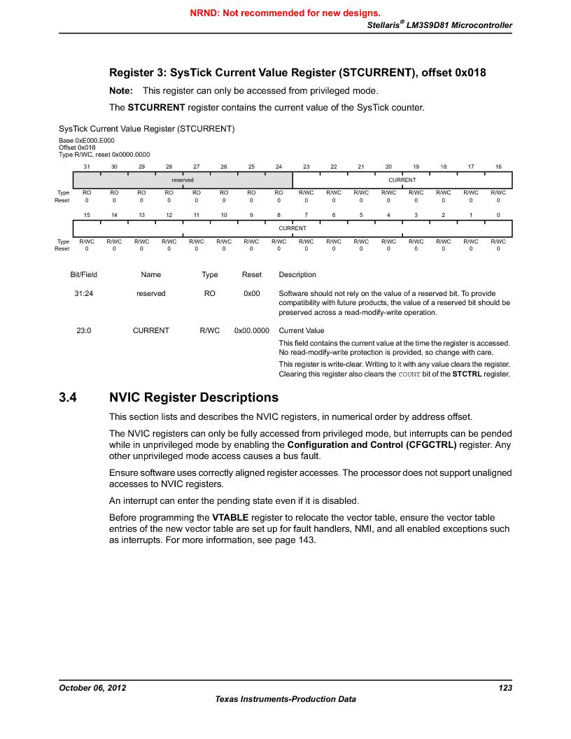 LM3S9D81 ,Texas Instruments厂商,Stellaris LM3S Microcontroller 108-NFBGA -40 to 85, LM3S9D81 datasheet预览  第123页
