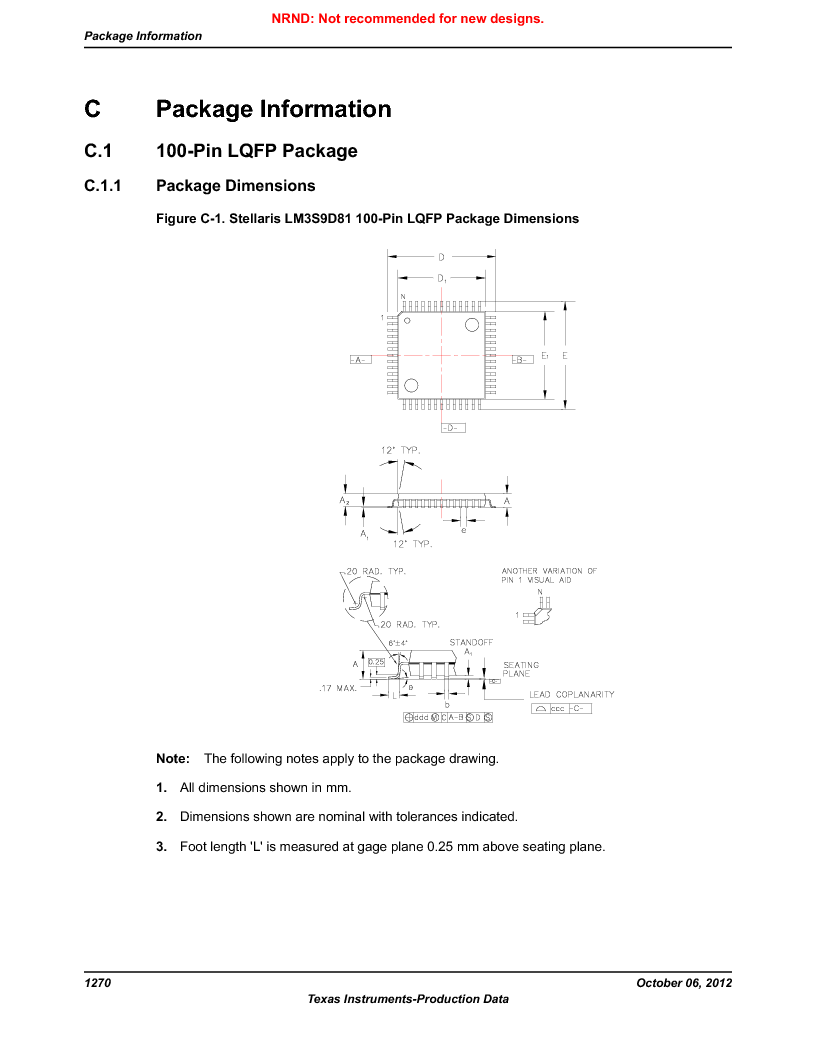 LM3S9D81 ,Texas Instruments厂商,Stellaris LM3S Microcontroller 108-NFBGA -40 to 85, LM3S9D81 datasheet预览  第1270页