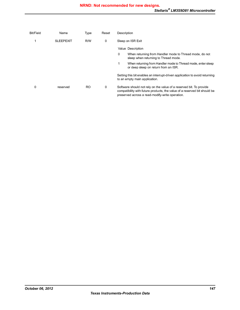 LM3S9D81 ,Texas Instruments厂商,Stellaris LM3S Microcontroller 108-NFBGA -40 to 85, LM3S9D81 datasheet预览  第147页