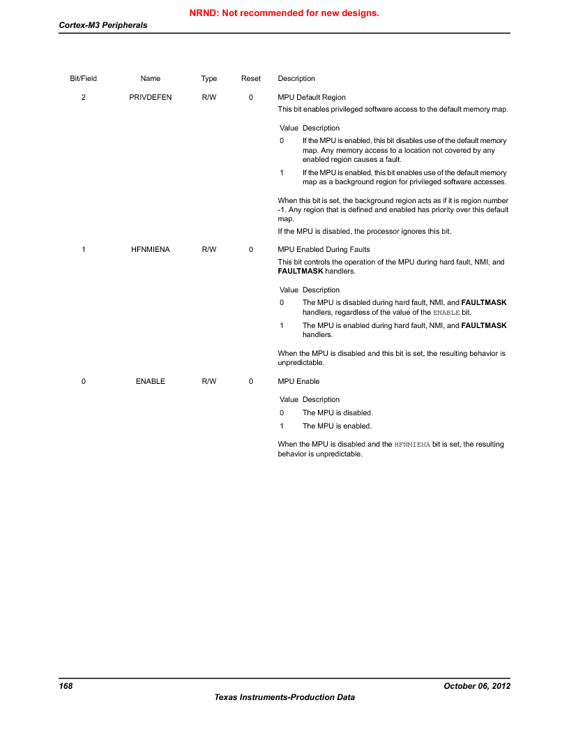 LM3S9D81 ,Texas Instruments厂商,Stellaris LM3S Microcontroller 108-NFBGA -40 to 85, LM3S9D81 datasheet预览  第168页
