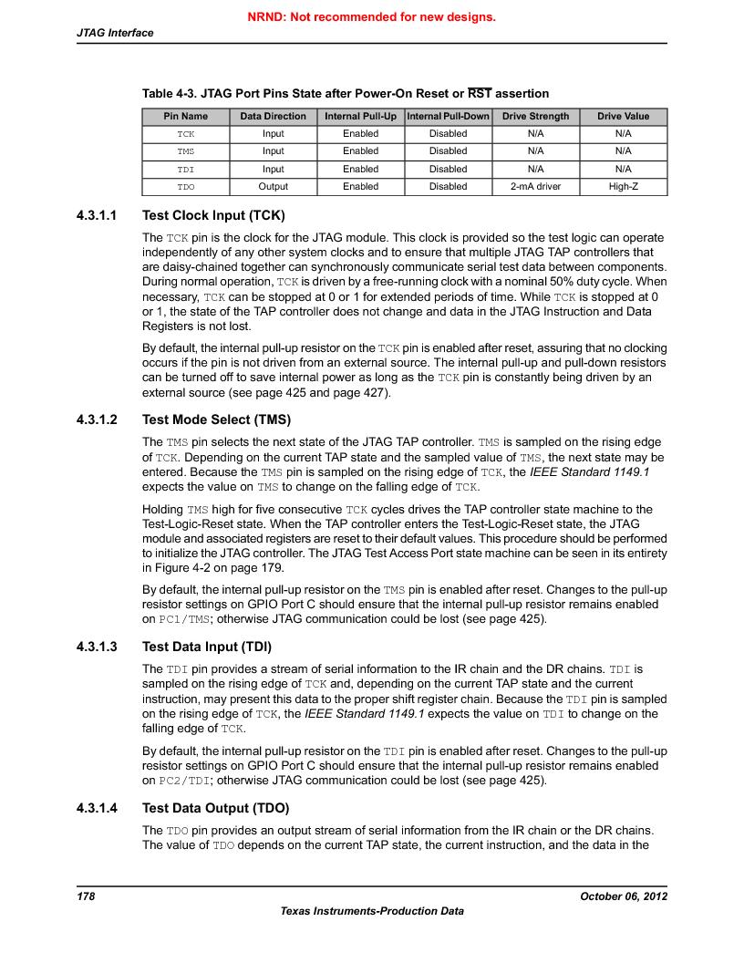 LM3S9D81 ,Texas Instruments厂商,Stellaris LM3S Microcontroller 108-NFBGA -40 to 85, LM3S9D81 datasheet预览  第178页