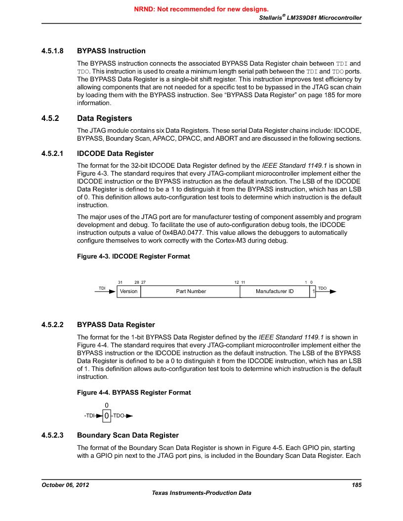 LM3S9D81 ,Texas Instruments厂商,Stellaris LM3S Microcontroller 108-NFBGA -40 to 85, LM3S9D81 datasheet预览  第185页