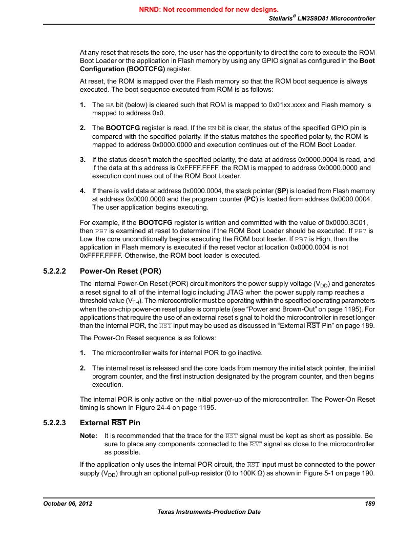 LM3S9D81 ,Texas Instruments厂商,Stellaris LM3S Microcontroller 108-NFBGA -40 to 85, LM3S9D81 datasheet预览  第189页