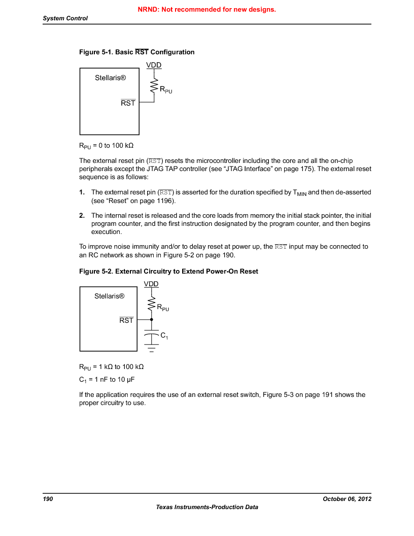 LM3S9D81 ,Texas Instruments厂商,Stellaris LM3S Microcontroller 108-NFBGA -40 to 85, LM3S9D81 datasheet预览  第190页