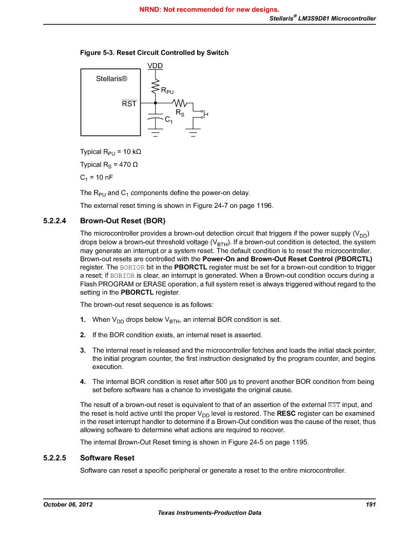 LM3S9D81 ,Texas Instruments厂商,Stellaris LM3S Microcontroller 108-NFBGA -40 to 85, LM3S9D81 datasheet预览  第191页
