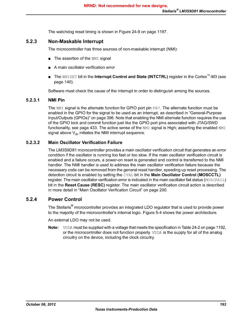 LM3S9D81 ,Texas Instruments厂商,Stellaris LM3S Microcontroller 108-NFBGA -40 to 85, LM3S9D81 datasheet预览  第193页