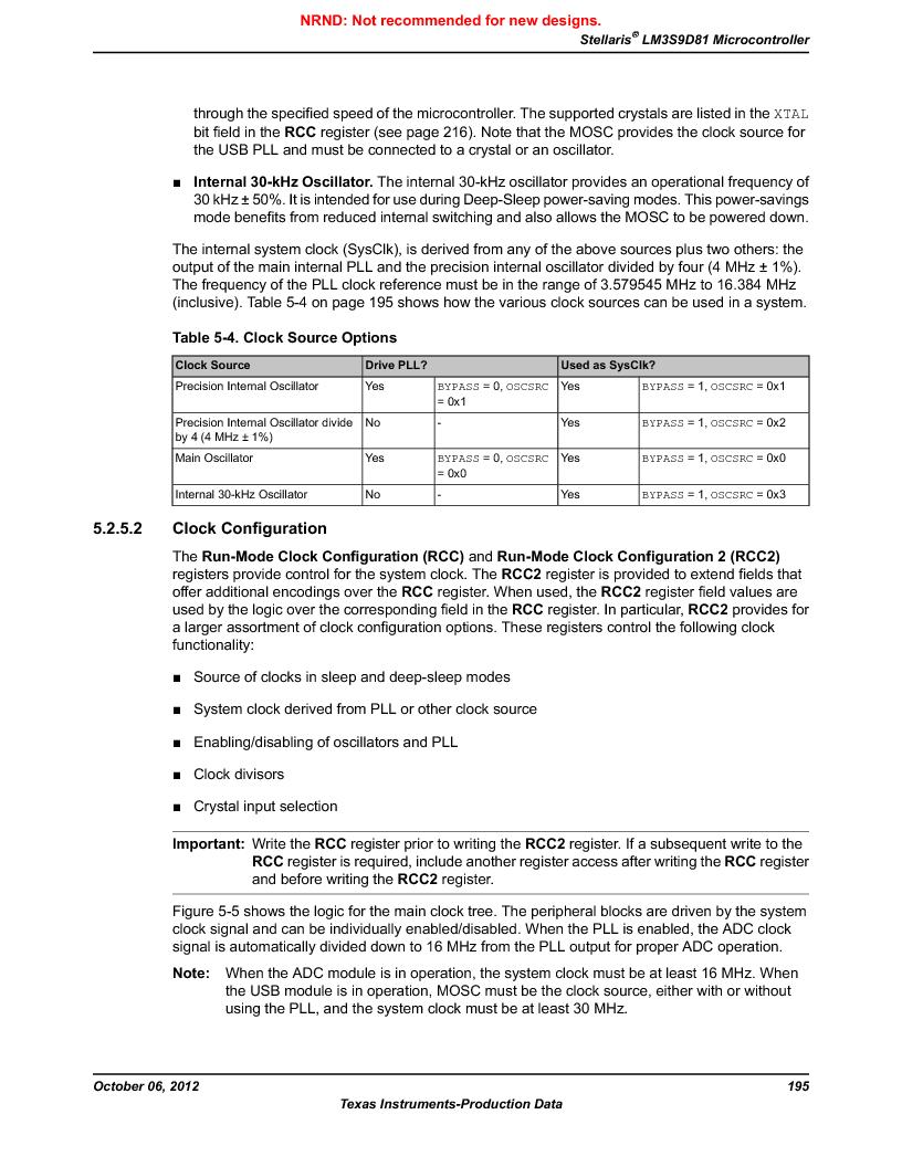 LM3S9D81 ,Texas Instruments厂商,Stellaris LM3S Microcontroller 108-NFBGA -40 to 85, LM3S9D81 datasheet预览  第195页