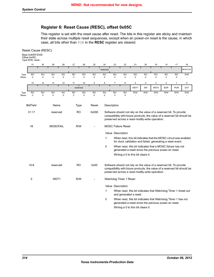 LM3S9D81 ,Texas Instruments厂商,Stellaris LM3S Microcontroller 108-NFBGA -40 to 85, LM3S9D81 datasheet预览  第214页