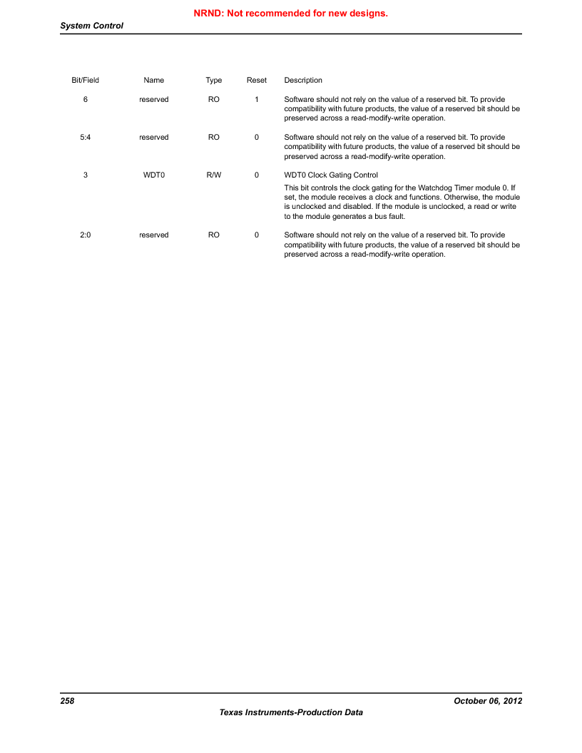LM3S9D81 ,Texas Instruments厂商,Stellaris LM3S Microcontroller 108-NFBGA -40 to 85, LM3S9D81 datasheet预览  第258页