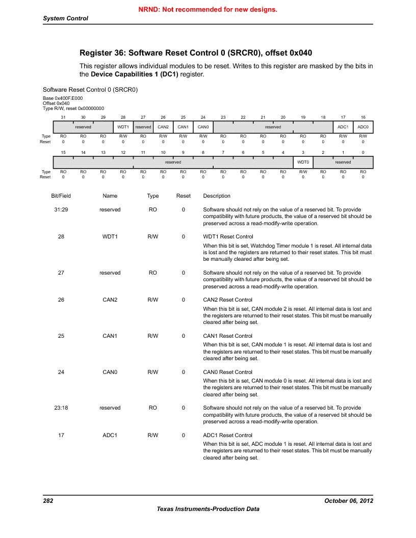 LM3S9D81 ,Texas Instruments厂商,Stellaris LM3S Microcontroller 108-NFBGA -40 to 85, LM3S9D81 datasheet预览  第282页