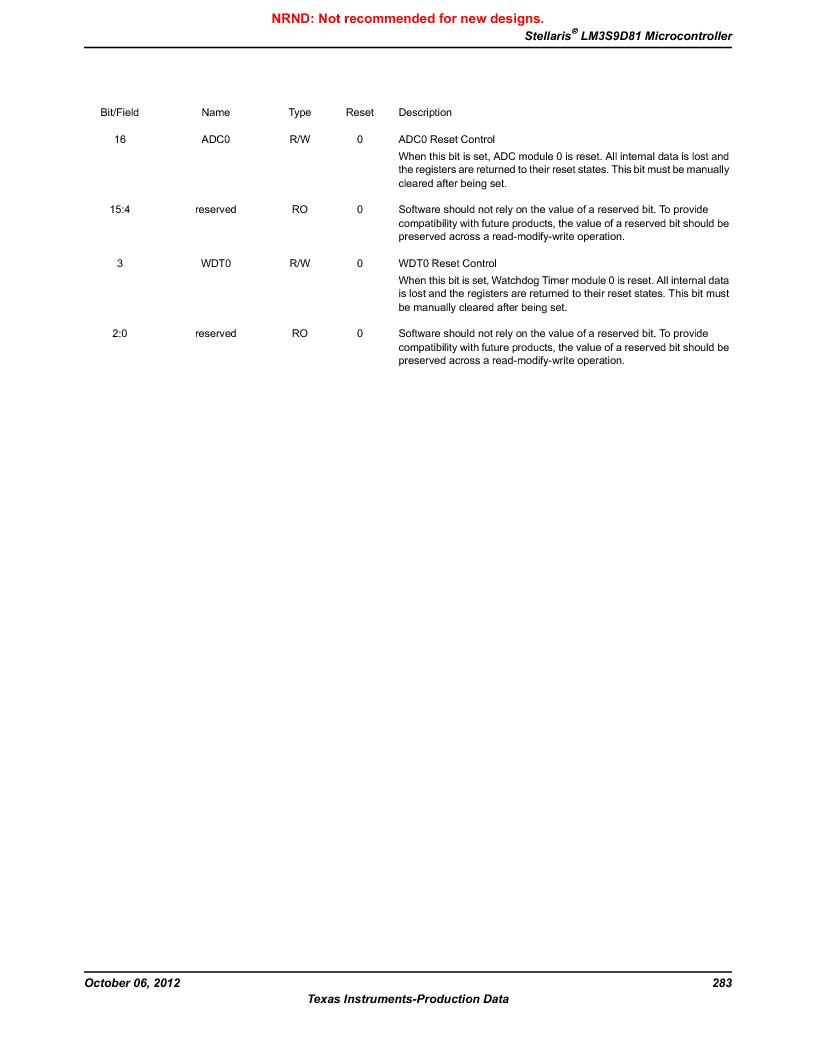 LM3S9D81 ,Texas Instruments厂商,Stellaris LM3S Microcontroller 108-NFBGA -40 to 85, LM3S9D81 datasheet预览  第283页