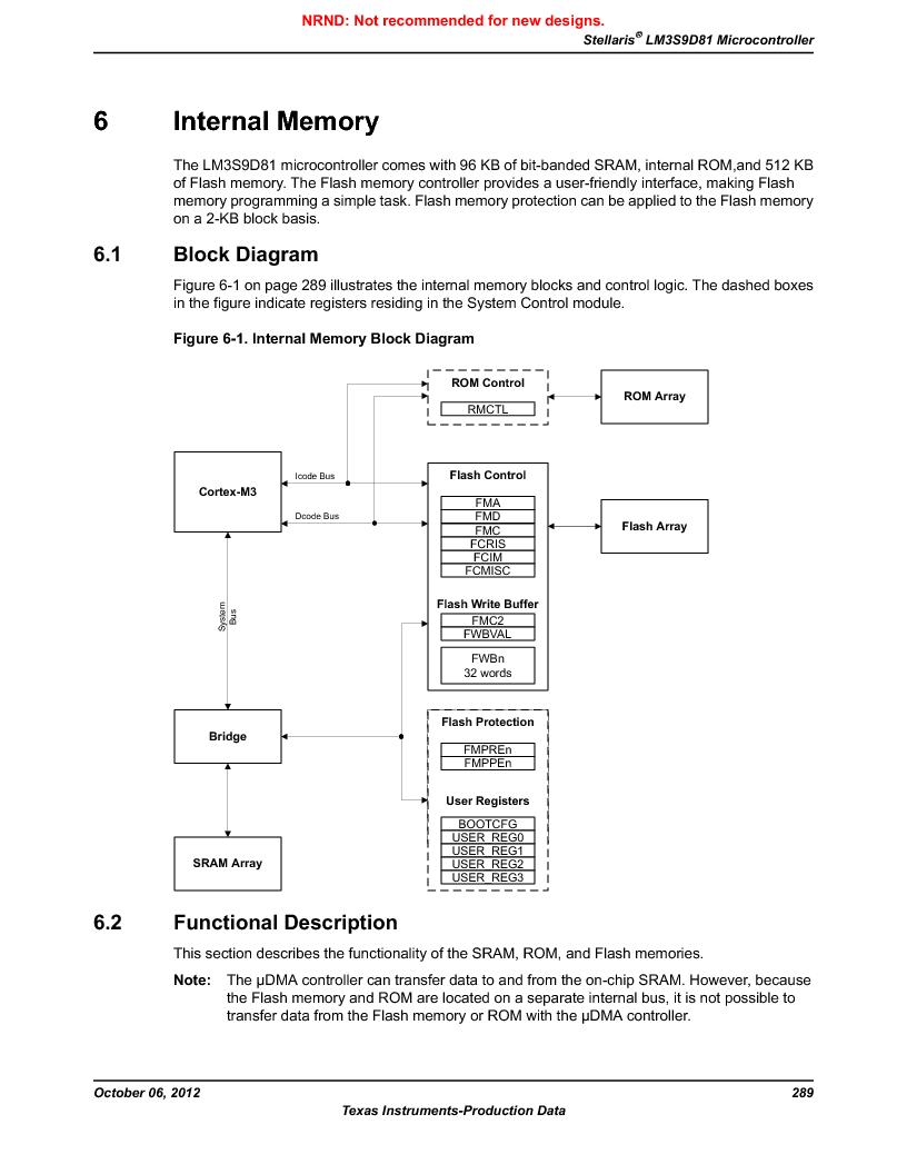 LM3S9D81 ,Texas Instruments厂商,Stellaris LM3S Microcontroller 108-NFBGA -40 to 85, LM3S9D81 datasheet预览  第289页