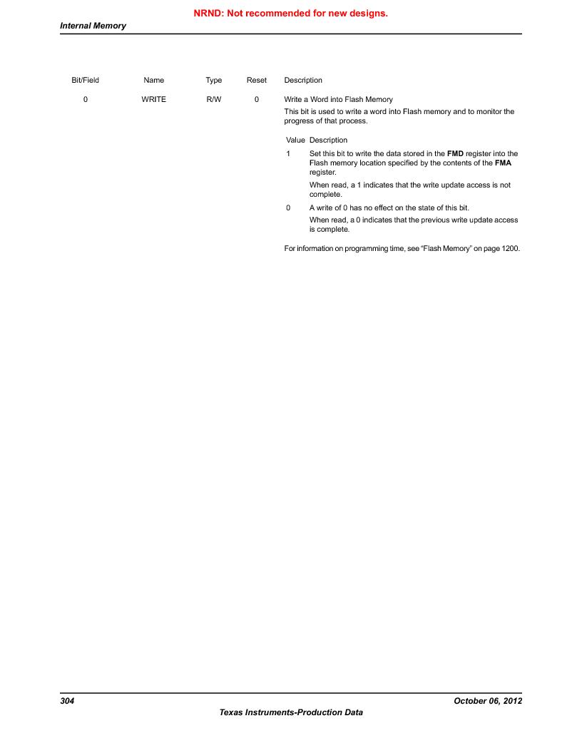 LM3S9D81 ,Texas Instruments厂商,Stellaris LM3S Microcontroller 108-NFBGA -40 to 85, LM3S9D81 datasheet预览  第304页