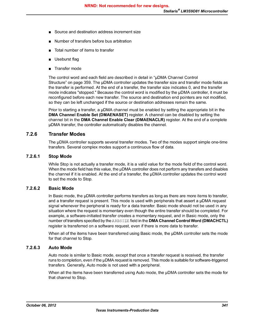 LM3S9D81 ,Texas Instruments厂商,Stellaris LM3S Microcontroller 108-NFBGA -40 to 85, LM3S9D81 datasheet预览  第341页