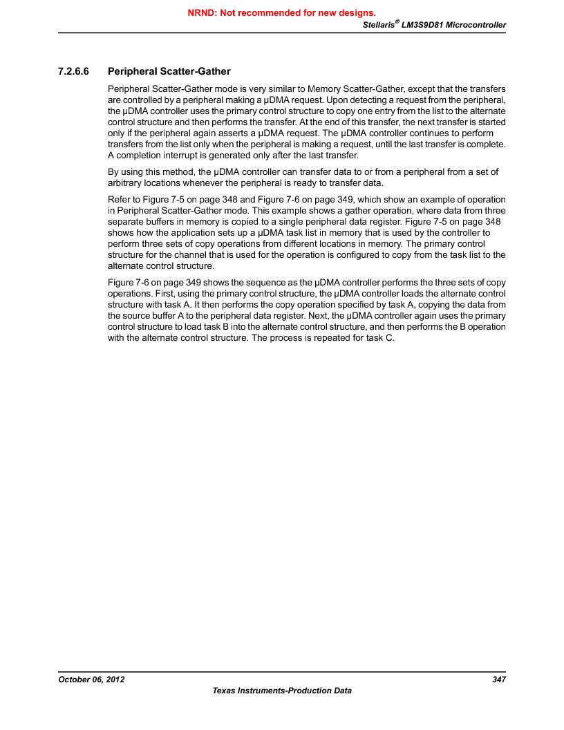 LM3S9D81 ,Texas Instruments厂商,Stellaris LM3S Microcontroller 108-NFBGA -40 to 85, LM3S9D81 datasheet预览  第347页