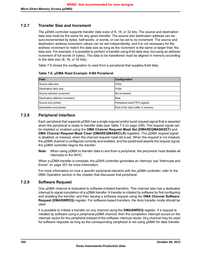 LM3S9D81 ,Texas Instruments厂商,Stellaris LM3S Microcontroller 108-NFBGA -40 to 85, LM3S9D81 datasheet预览  第350页