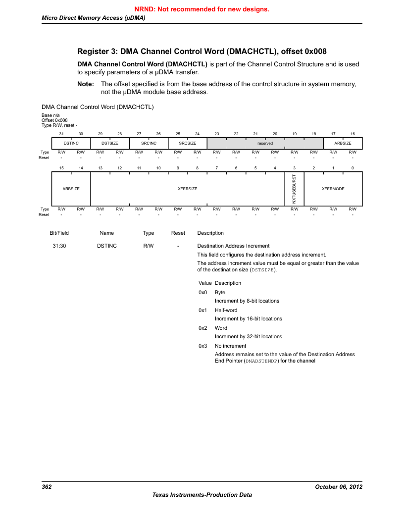 LM3S9D81 ,Texas Instruments厂商,Stellaris LM3S Microcontroller 108-NFBGA -40 to 85, LM3S9D81 datasheet预览  第362页