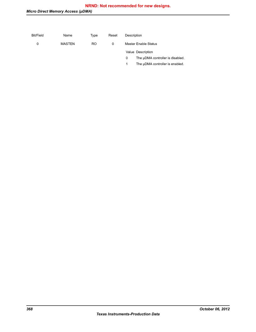 LM3S9D81 ,Texas Instruments厂商,Stellaris LM3S Microcontroller 108-NFBGA -40 to 85, LM3S9D81 datasheet预览  第368页