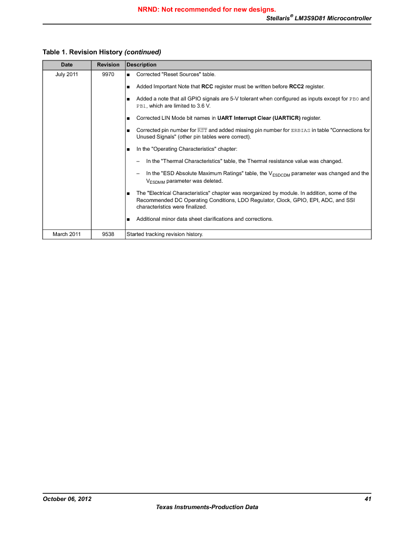LM3S9D81 ,Texas Instruments厂商,Stellaris LM3S Microcontroller 108-NFBGA -40 to 85, LM3S9D81 datasheet预览  第41页