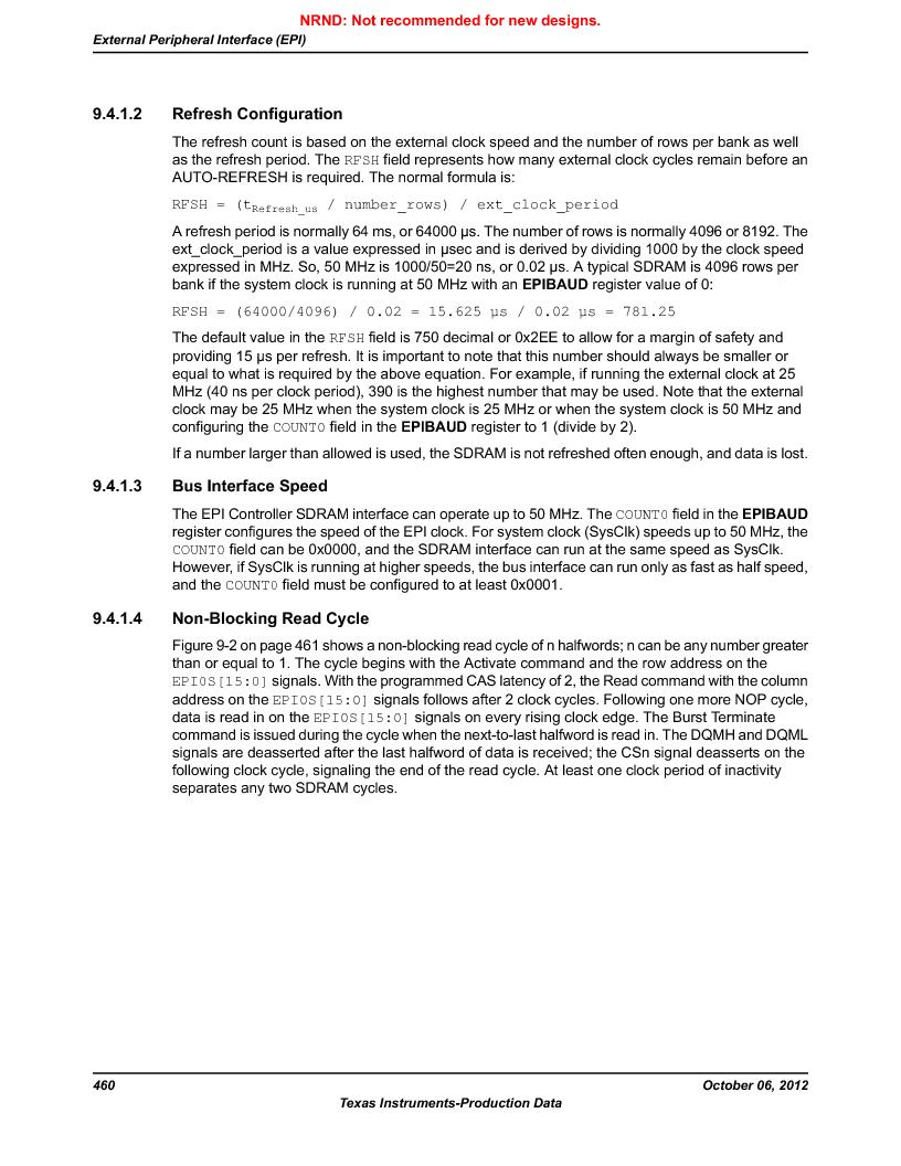 LM3S9D81 ,Texas Instruments厂商,Stellaris LM3S Microcontroller 108-NFBGA -40 to 85, LM3S9D81 datasheet预览  第460页