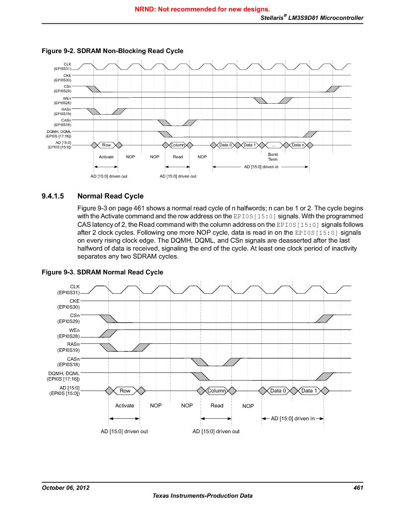 LM3S9D81 ,Texas Instruments厂商,Stellaris LM3S Microcontroller 108-NFBGA -40 to 85, LM3S9D81 datasheet预览  第461页