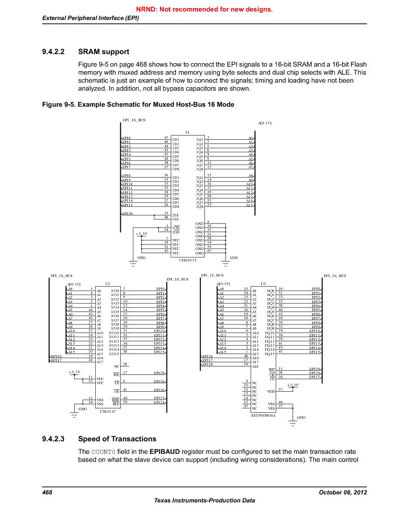 LM3S9D81 ,Texas Instruments厂商,Stellaris LM3S Microcontroller 108-NFBGA -40 to 85, LM3S9D81 datasheet预览  第468页