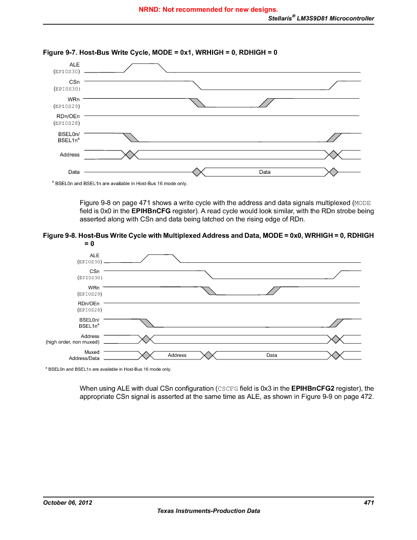 LM3S9D81 ,Texas Instruments厂商,Stellaris LM3S Microcontroller 108-NFBGA -40 to 85, LM3S9D81 datasheet预览  第471页