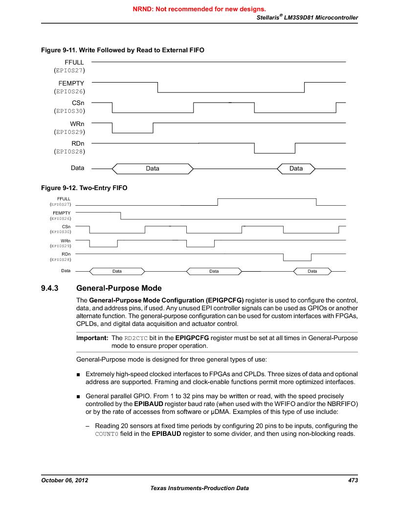 LM3S9D81 ,Texas Instruments厂商,Stellaris LM3S Microcontroller 108-NFBGA -40 to 85, LM3S9D81 datasheet预览  第473页