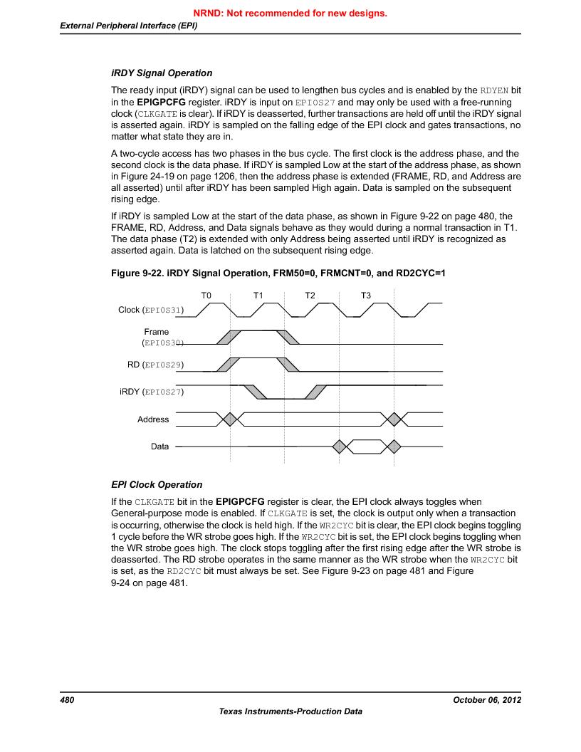 LM3S9D81 ,Texas Instruments厂商,Stellaris LM3S Microcontroller 108-NFBGA -40 to 85, LM3S9D81 datasheet预览  第480页