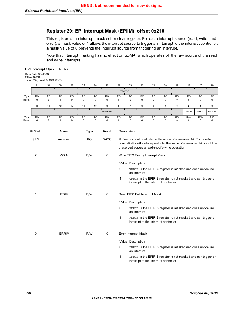 LM3S9D81 ,Texas Instruments厂商,Stellaris LM3S Microcontroller 108-NFBGA -40 to 85, LM3S9D81 datasheet预览  第520页