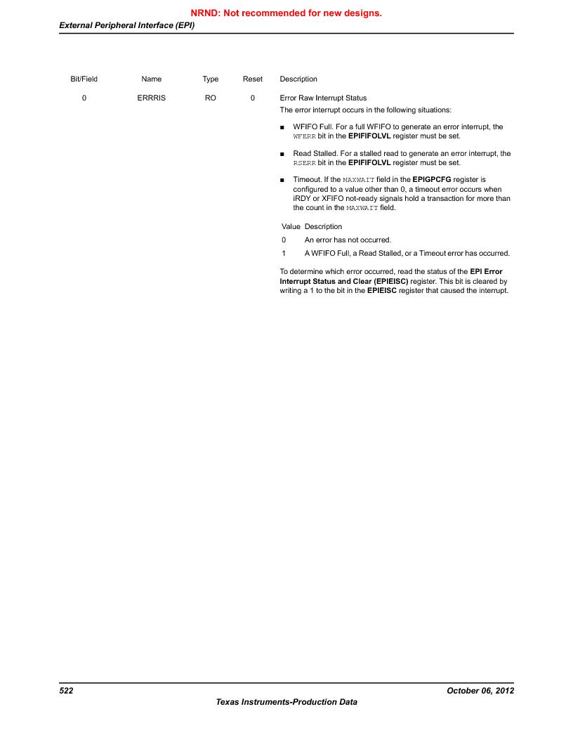 LM3S9D81 ,Texas Instruments厂商,Stellaris LM3S Microcontroller 108-NFBGA -40 to 85, LM3S9D81 datasheet预览  第522页