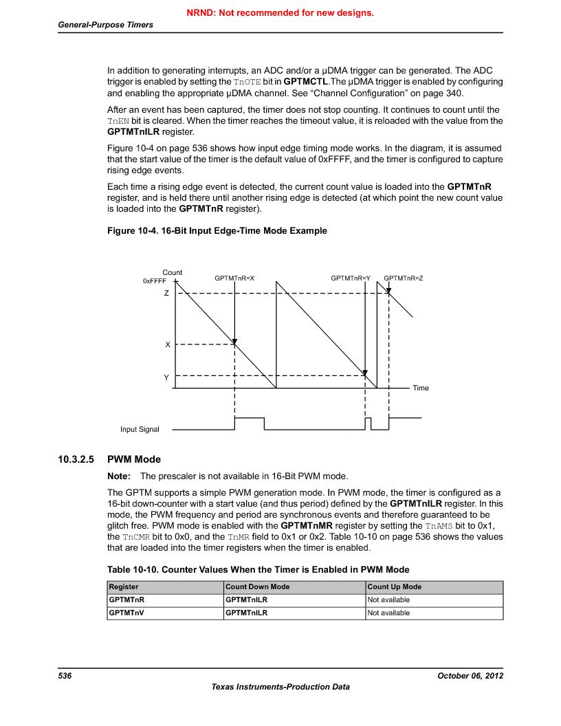 LM3S9D81 ,Texas Instruments厂商,Stellaris LM3S Microcontroller 108-NFBGA -40 to 85, LM3S9D81 datasheet预览  第536页