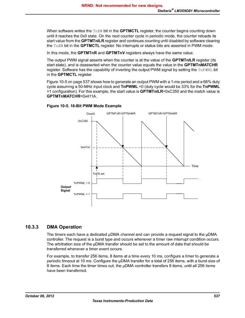 LM3S9D81 ,Texas Instruments厂商,Stellaris LM3S Microcontroller 108-NFBGA -40 to 85, LM3S9D81 datasheet预览  第537页