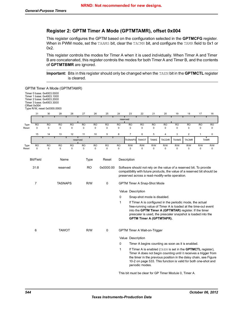 LM3S9D81 ,Texas Instruments厂商,Stellaris LM3S Microcontroller 108-NFBGA -40 to 85, LM3S9D81 datasheet预览  第544页