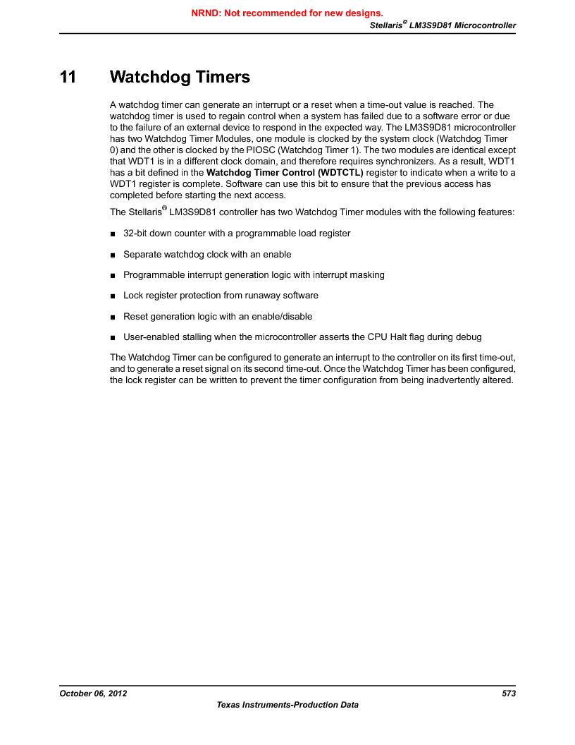 LM3S9D81 ,Texas Instruments厂商,Stellaris LM3S Microcontroller 108-NFBGA -40 to 85, LM3S9D81 datasheet预览  第573页